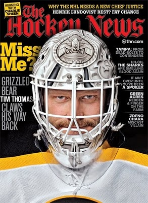 The Hockey News  April 4, 2011  cover: Tim Thomas