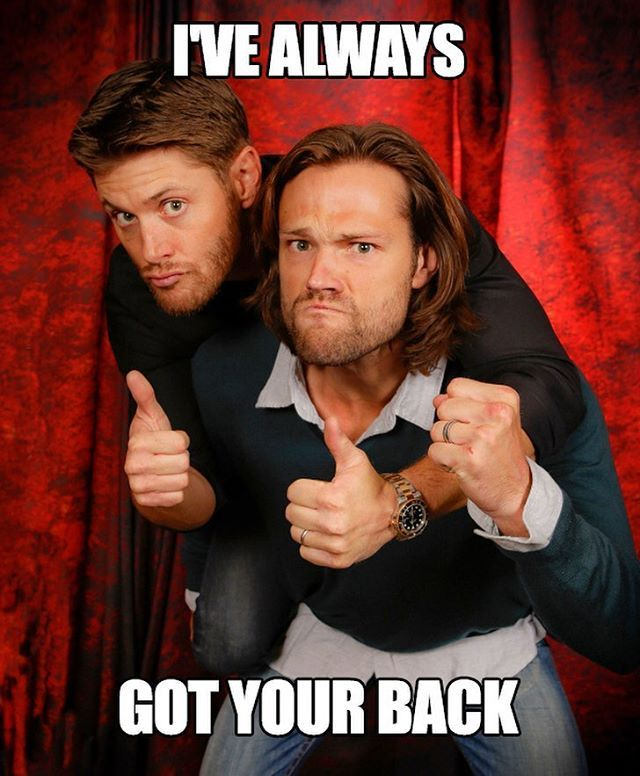 Jensen has my back....literally ;) Less than one week left to support our represent.com/jaredjensen campaign!! Link to buy in my bio!