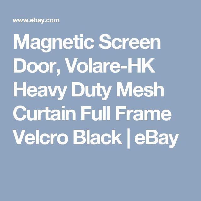 Magnetic Screen Door, Volare-HK Heavy Duty Mesh Curtain Full Frame Velcro Black  | eBay