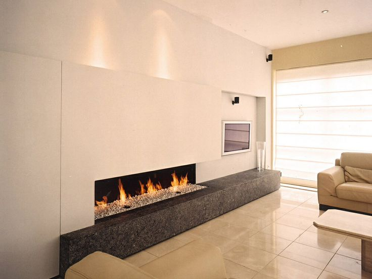 Open haard wand woonkamer pinterest wands - Deco moderne open haard ...