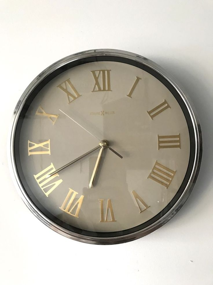 Howard Miller Quartz Wall Clock Roman Numerals 612 191