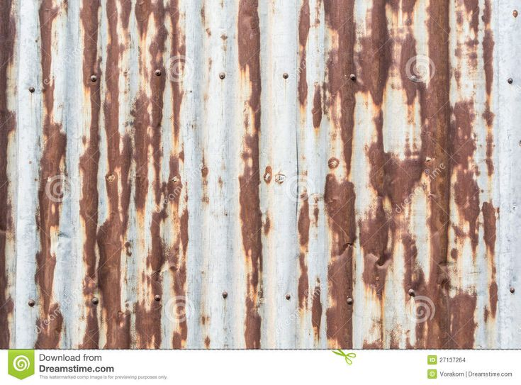 Galvanized Sheet Metal for Walls | Stock Images: Rustic galvanized sheet wall with nail