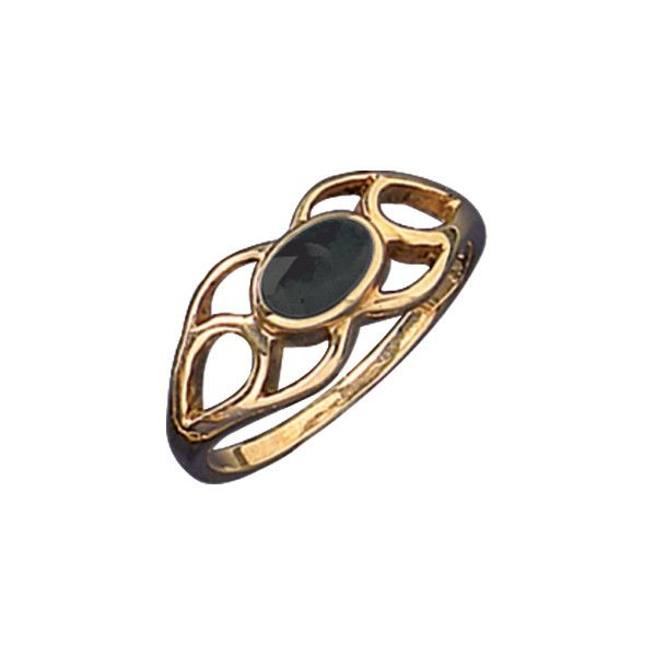 W Hamond Ring Whitby Jet And 9ct Gold Spoon R146 | W Hamond - The Original Whitby Jet Store Est.1860