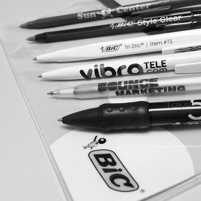 Interesting in getting your company logo or contact info printed on merchandise? We can help! From pens, to coffee cups, we can get the products you need to market your business.  #advertising #marketing #pens #bic #businessprinting #businessmarketing #productplacement