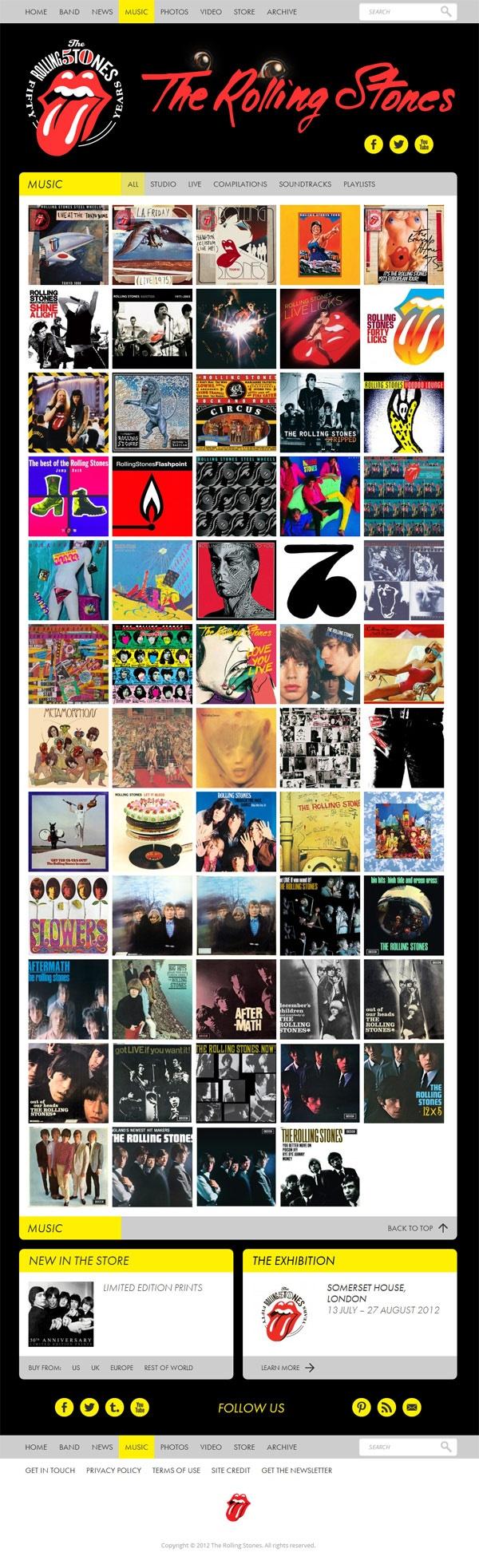 Rolling Stones WordPress Website