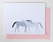 Card - Two Horses.