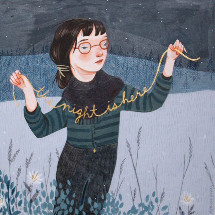 I thinks its very easy to forget how much type can add to an image. Painting by Rebecca Green