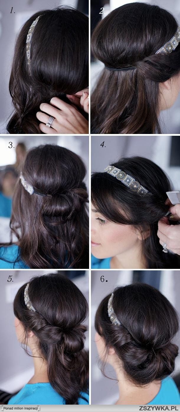 Low crown hairstyle; needs hair pins, hairspray, time and a suitable headband.