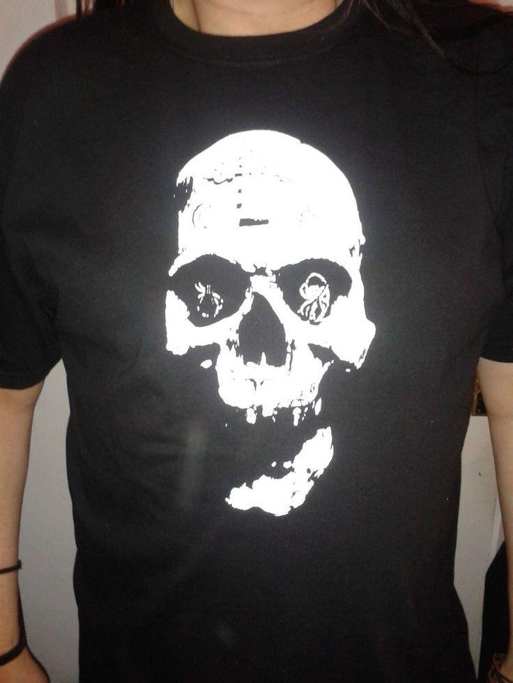 Black Gothic Short Sleeved T shirt Top Skull design