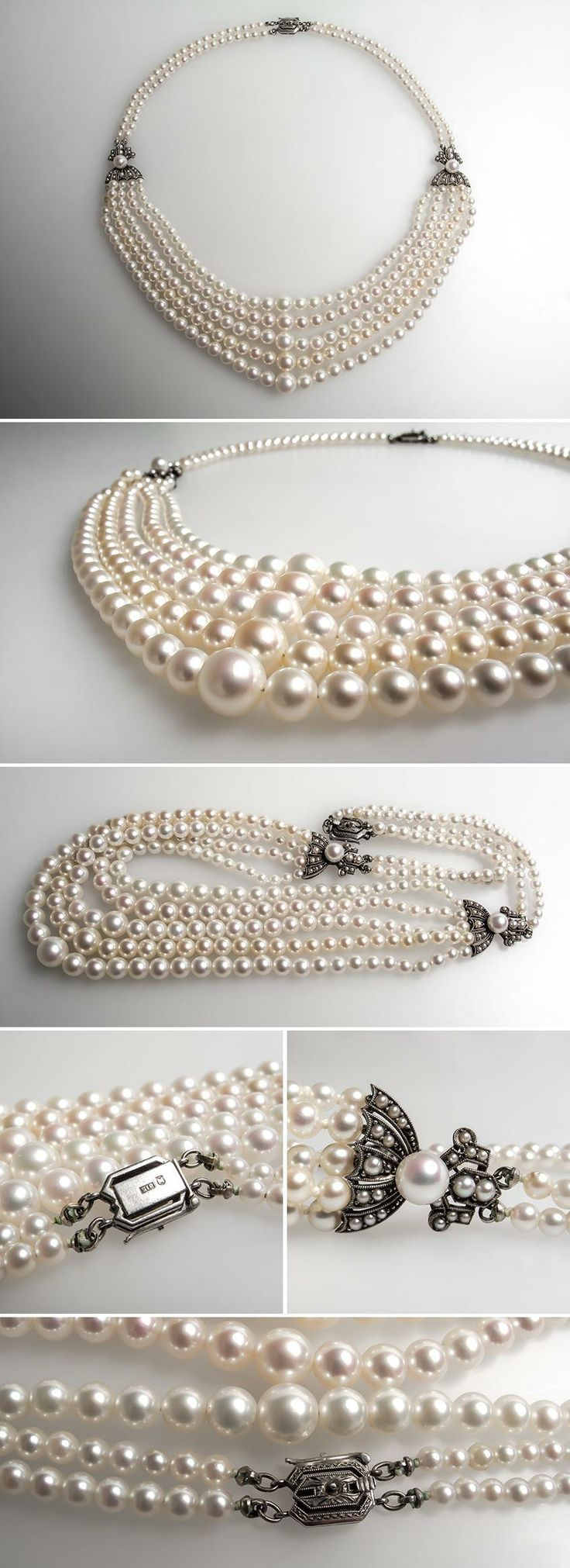 necklace white k main collective mikimoto pearls vestiaire feat