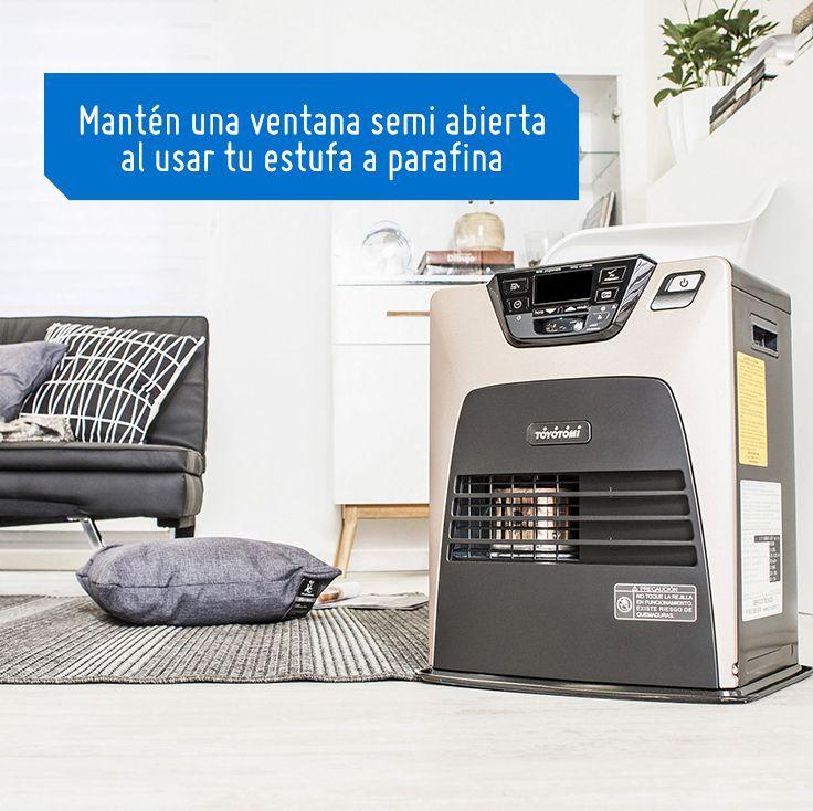 Una estufa a parafina requiere siempre de ventilación en el ambiente en el que se encuentre. #SodimacHomecenter #Sodimac #Homecenter