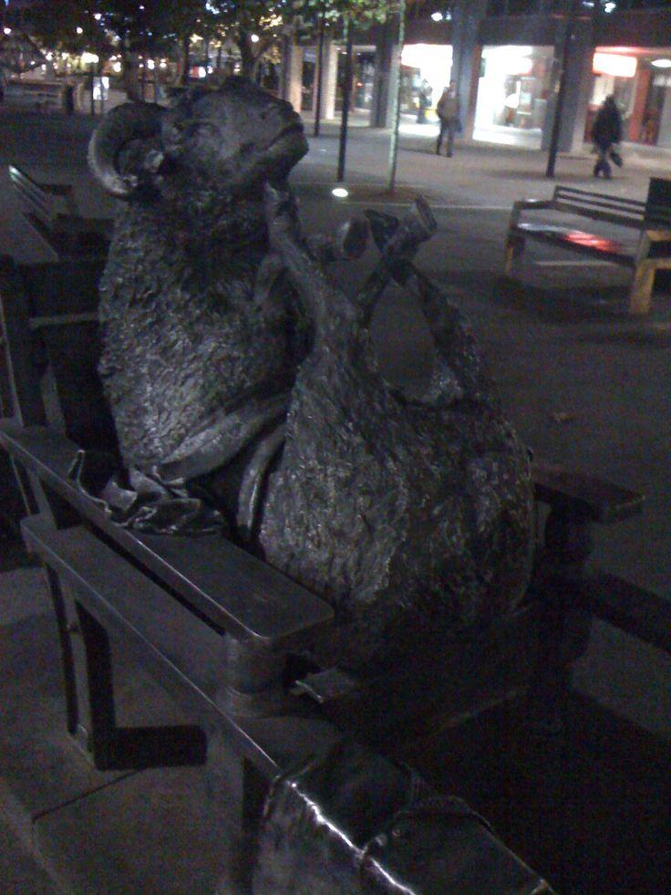 Canberra - Sheep shearers memorial!  LOL!!!