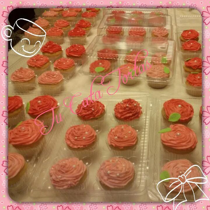 Cupcakes rosas Día de la Madre