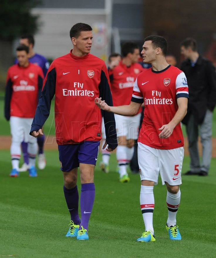 Sczesny and Vermaelen #trainingcamp