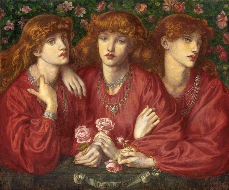 The Athenaeum -ROSSETTI, Dante Gabriel English Pre-Raphaelite (1828-1882)_A Triple Portrait of May Morris - 1874