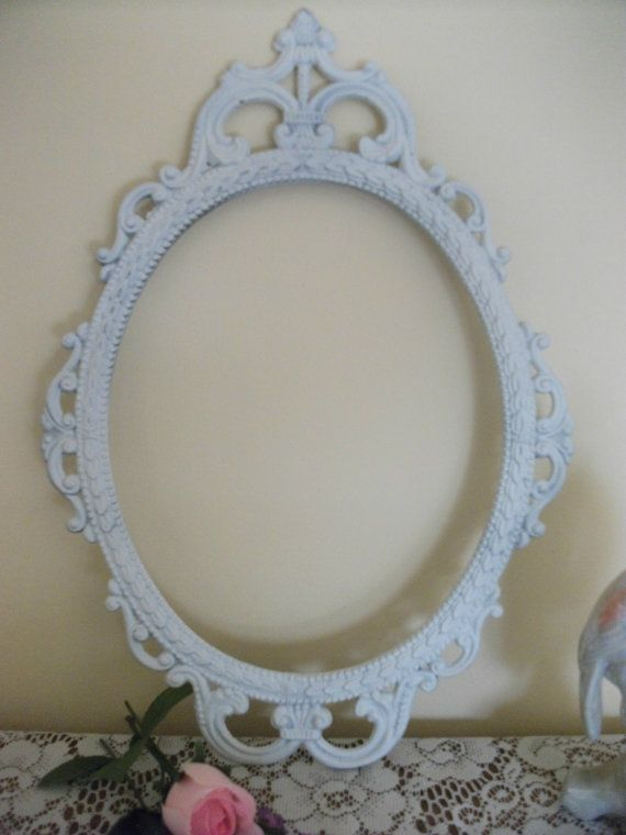 Vintage Metal Ornate Oval Picture Frame with by GLVintageShop, $80.00