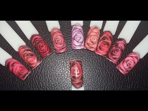 Рисуем розы и дорабатываем разными способами + витражный лак своими руками