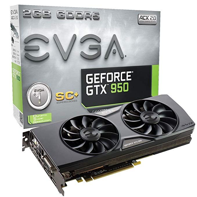 Evga Geforce Gtx 950 2gb Sc Gaming Silent Cooling Graphics Card