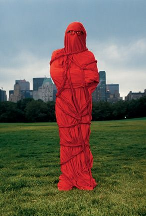 Annie Leibovitz. Photo of The artist Christo. 1981 in New York's Central Park.