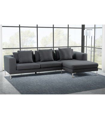 Linear Right Hand Corner Sofa Malaga Slate