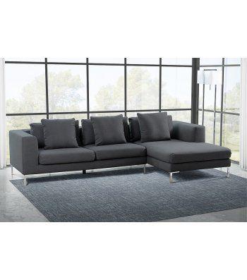 Linear Right Hand Corner Sofa Malaga Slate