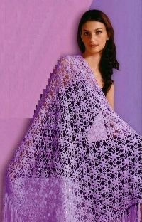 Crochet shawl with schemes for free