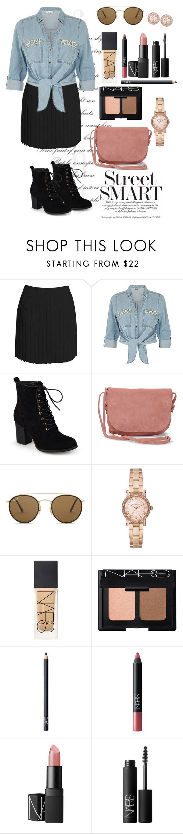 """""""May 8, 2017"""" by blueroses-1 on Polyvore featuring Boohoo, ZAK, Journee Collection, TOMS, Ray-Ban, Michael Kors, NARS Cosmetics and Givenchy"""