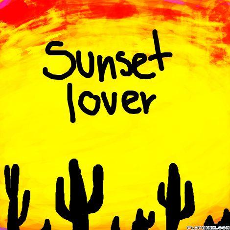 Sunset lover by Silviodinaro #gif #anim #animation #flipanim #flipbook #drawing #draw