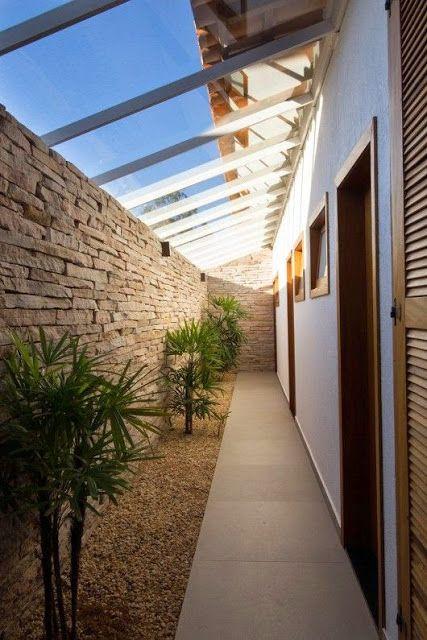 Casa de ideias e decoração: Ideias para decorar o corredor lateral da casa
