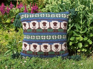 To celebrating your love of knitting and the Year of the Sheep, try this stranded knit pillow.  Check out the knit pattern on Ravelry.