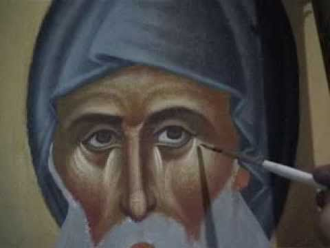 Byzantine icon painting - Βυζαντινή Αγιογραφία - YouTube