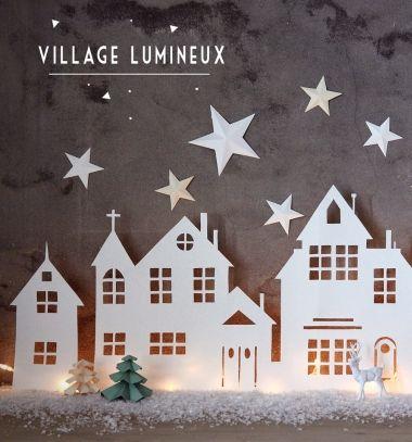 Téli város papírból led fénycsík világítással / Mindy - kreatív ötletek és dekorációk minden napra