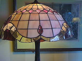 Pink Stained Glass Lamp