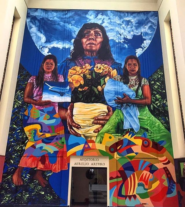 While going to National Library in Colombia you can enjoy both types of art: literature and paintings. Have a look at this stunning mural within its premises #discover #explore #colombia #bogota #kolumbia #graffitti #mural #murals #streetart #graffittiart #walls #murale #fromwhereistand #traveldiaries #art #artdiaries #biblioteca #library #viajes #viajeros #podróże Photo courtesy @guache_art