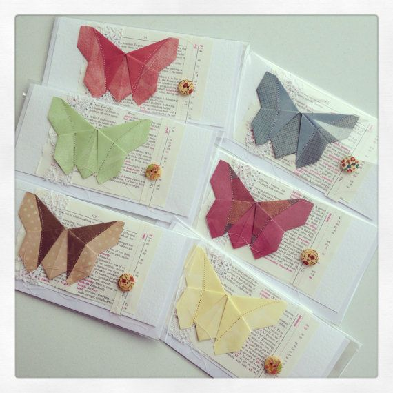 origami butterfly card by gonerustic on Etsy