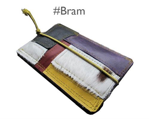 iPhone sleeve made of leftover bits of leather mondriaan style