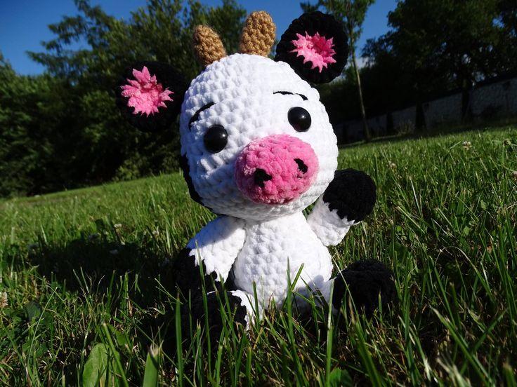 krowa amigurumi