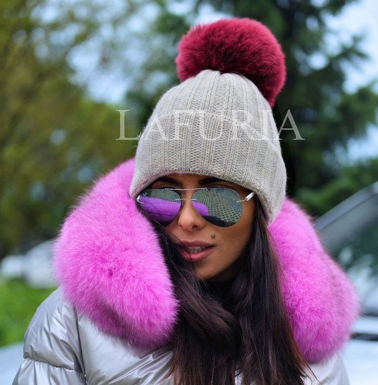 NEW LaFuria 2017 WOOL HAT FOX FUR POMPON CLASS SABLE MINK CHINCHILLA COAT JACKET #LAFURIA #