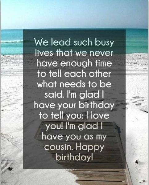 Inspirational Quotes For Cousins: Best 25+ Happy Birthday Cousin Ideas On Pinterest