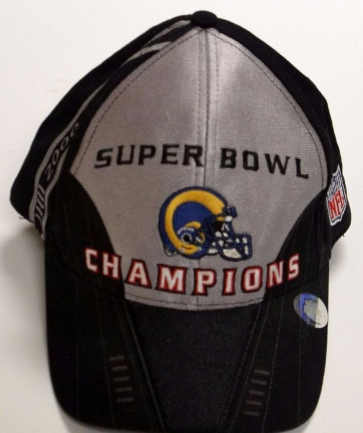 NFL St. Louis Rams 2000 Super Bowl XXIV 34 Champions Hat Cap Adjustable #NFL #StLouisRams