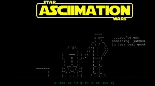 Happy Birthday ASCII- ASCII Star Wars