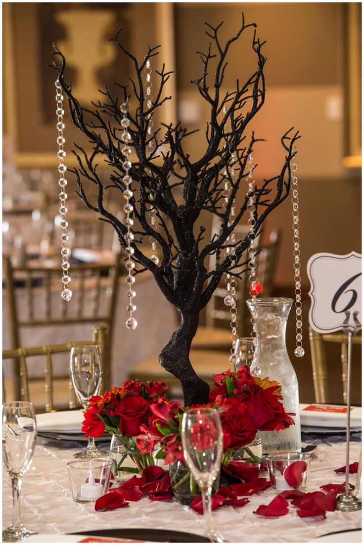 Nightmare Before Christmas Inspired Wedding at Wedgewood Vellano in Chino Hills by John W Photography   centerpiece