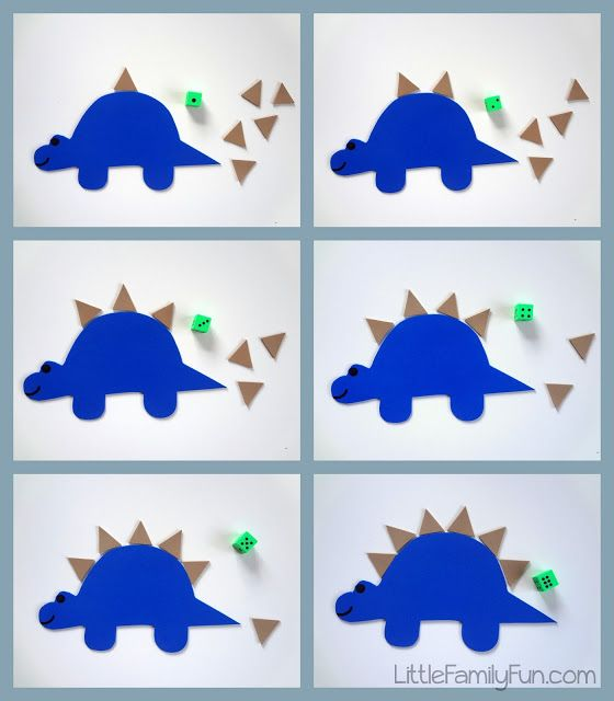 Stegosaurus Counting Game (from Little Family Fun)