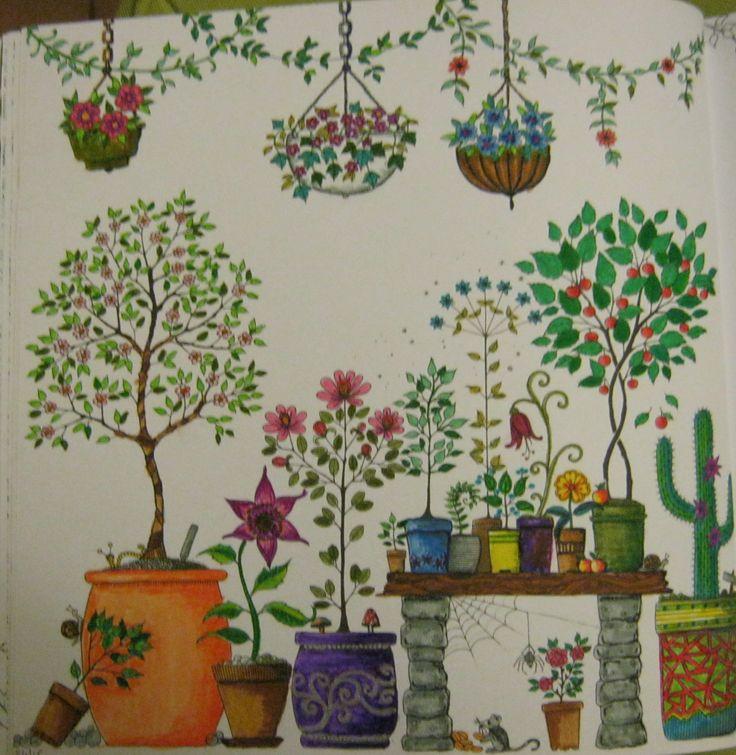 Autre coloriage de Jardin Secret