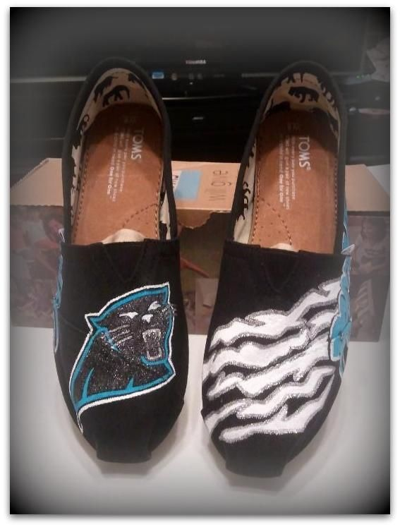 Carolina Panthers TOMS  $130 Etsy.com/shop/customsoles
