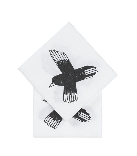 http://www.hema.nl/winkel/koken-tafelen/tafelen/tafelkleden-servetten/12-pak-servetten-20-x-20-cm-(60100013)?color=wit/zwart