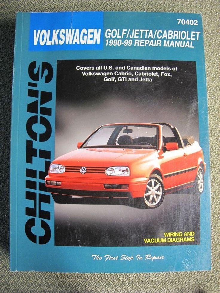 Chilton's 70402 Volkswagen Golf Jetta Cabriolet 1990 1998 Automotive Manual Book