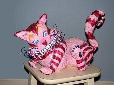 Paper Mache Cheshire Cat Papier Mache Pinterest