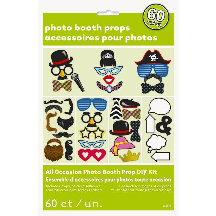 Juego de 60 Accesorios para Photocall - Comprar Online [Miles de Fiestas]