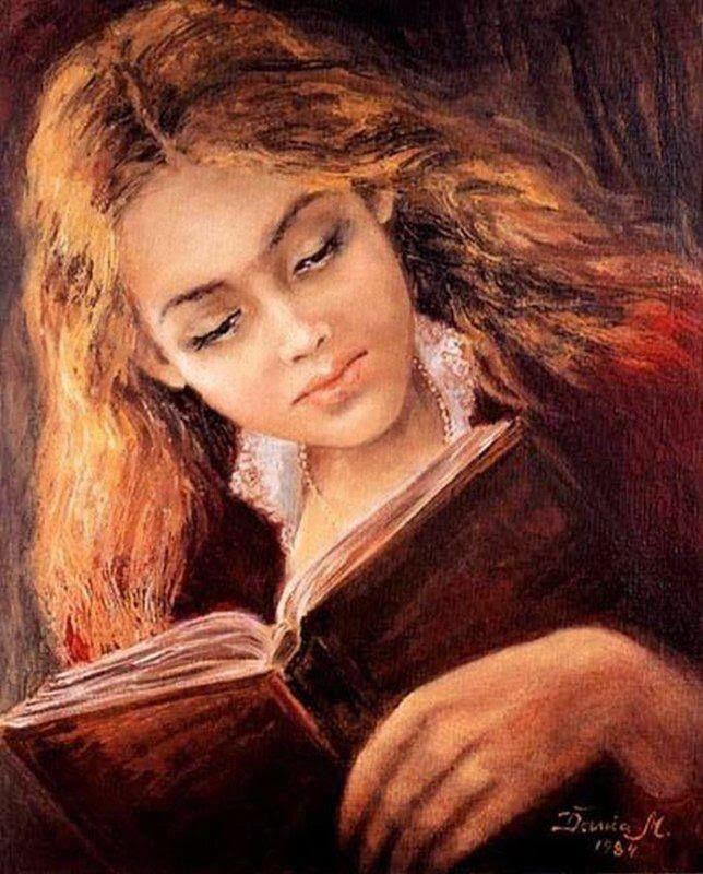 Girl Reading, 1984 by Danuta Muszyńska-Zamorska born 1931 in Poland: